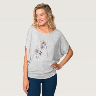 Camiseta Mulheres simples bonito do design da orquídea