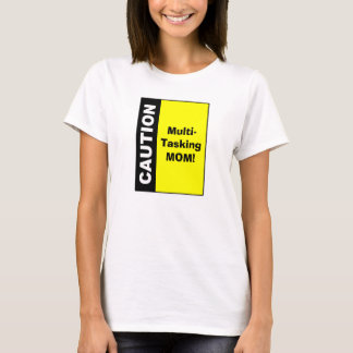 Camiseta Multi cuidado bonito da mamã do Tasking