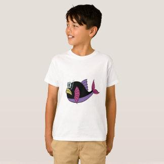 Camiseta Multi peixes roxos e pretos do soprador da cor