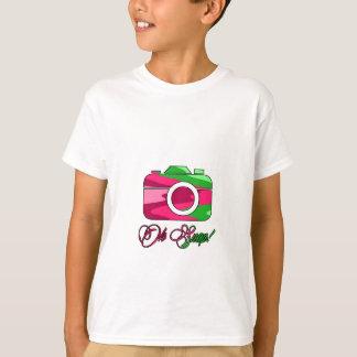 Camiseta Multi pressão da câmera de cor oh