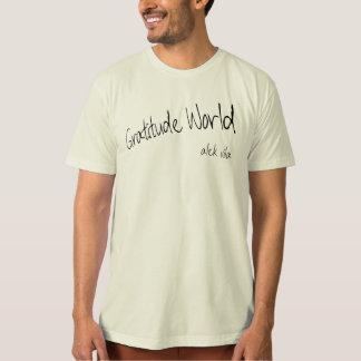 Camiseta Mundo da gratitude de Alek Vila natural (orgânico)