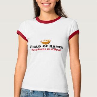 Camiseta Mundo do t-shirt dos Ramen
