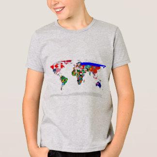Camiseta mundo embandeirado