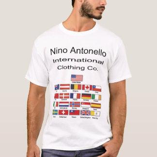 Camiseta Mundo internacional Fl do Co. da roupa de Nino