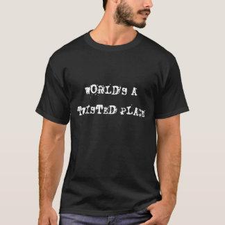 Camiseta mundos um lugar torcido