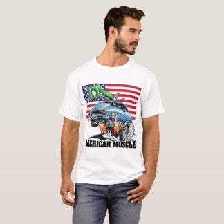 Camiseta Músculo americano (azul) do hot rod do monstro dos