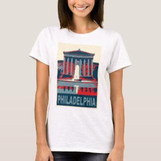 Camiseta Museu de Philadelphfia no azul