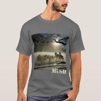 Camiseta Mush da imagem da equipe do trenó do cão