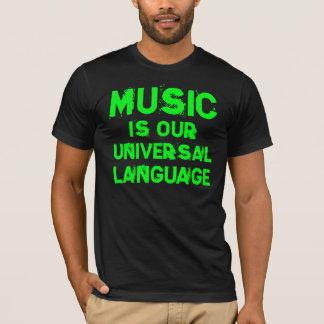 Camiseta Music is our Universal Language alpargata