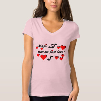 Camiseta Music que my first Love