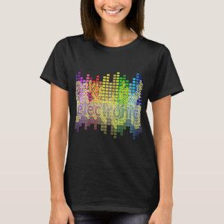 Camiseta Música-Baixo eletrônico da dança para baixo baixo