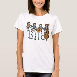 Camiseta Música country que joga os esqueletos