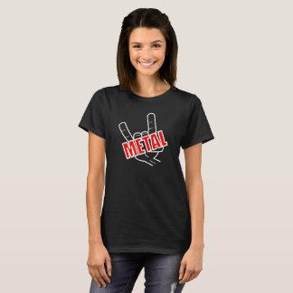 Camiseta Música da saudação do metal pesado