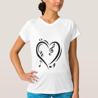 Camiseta Música do amor do Clef da ilustração