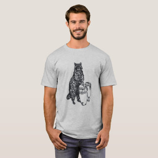 Camiseta Música do guaxinim engraçada