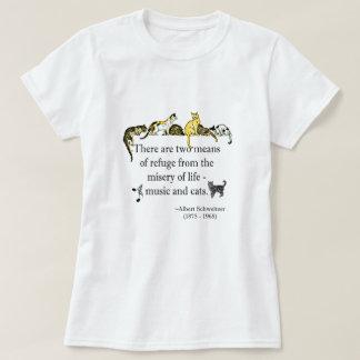 Camiseta Música e citações dos gatos