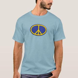 Camiseta Música oval do amor da paz