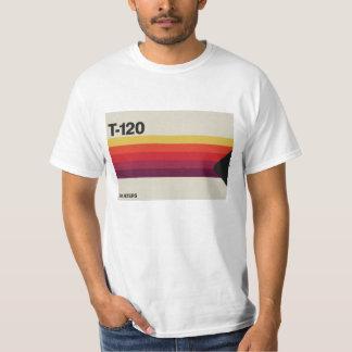 Camiseta Música retro e gráfico video da cassete de banda
