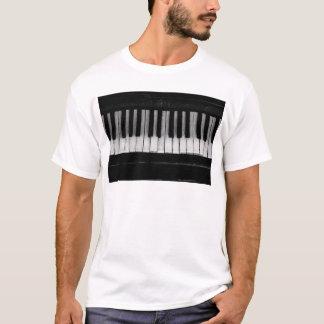 Camiseta Música velha do instrumento do teclado de piano de