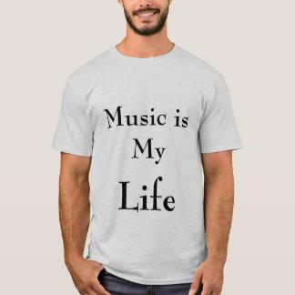 Camiseta música, vida