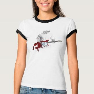 Camiseta Músico abstrato que joga a guitarra elétrica de