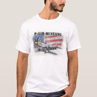Camiseta Mustang da segunda guerra mundial de P51D