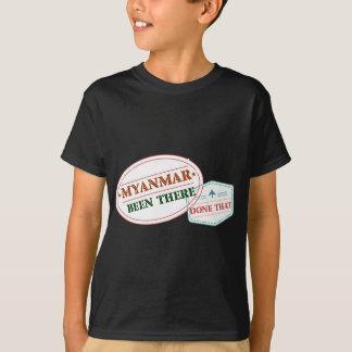 Camiseta Myanmar feito lá isso