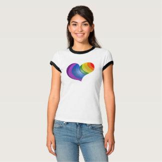 Camiseta MyPride365 - T-shirt da campainha do coração do