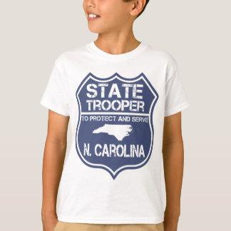 Camiseta N. polícia estadual de Carolina a proteger e
