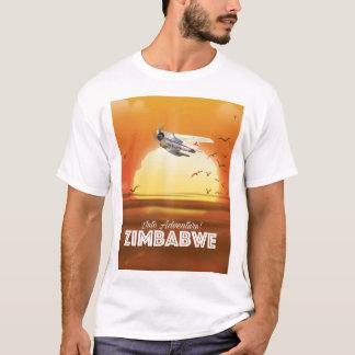 Camiseta Na aventura! Poster de viagens de Zimbabwe