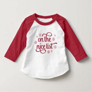 Camiseta Na criança agradável do Natal da lista |