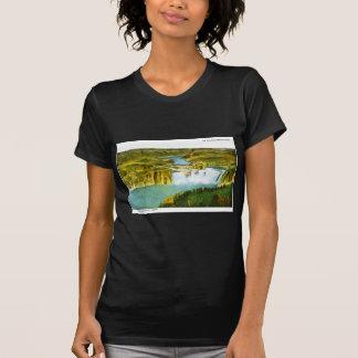Camiseta Na fuga velha de Oregeon, quedas de Shoeshone,