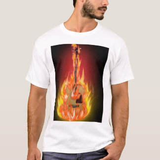 Camiseta Na guitarra do fogo