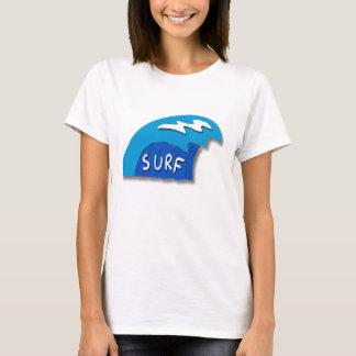 Camiseta Na moda azul abstrato do estilo dos desenhos