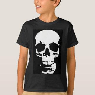 Camiseta Na moda preto & branco do crânio do pop art legal