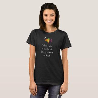 Camiseta Na praia  --T-shirt