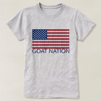 Camiseta NAÇÃO da CABRA a cabra americana GetYerGoat™