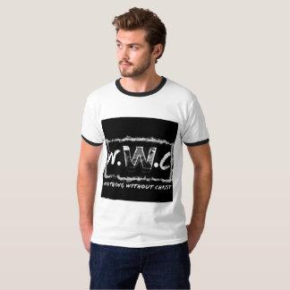 Camiseta Nada sem edição preto e branco do cristo