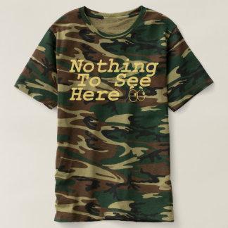 """Camiseta """"NADA VER AQUI"""" o T engraçado de Camo"""