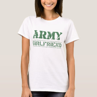 Camiseta Namorada gasto do exército do estêncil