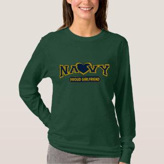 Camiseta Namorada orgulhoso do marinho