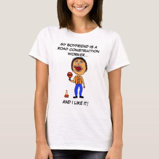 Camiseta Namorado do trabalhador de construção de estradas