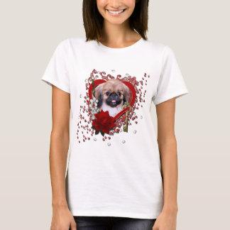 Camiseta Namorados - chave a meu coração - Pekingese - Zoe