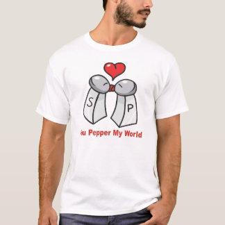 Camiseta Namorados do abanador da pimenta de sal n