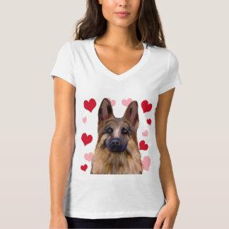 Camiseta Namorados do german shepherd