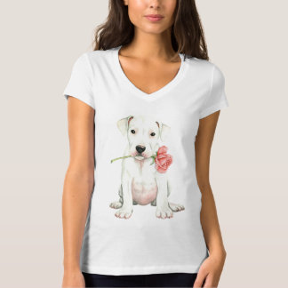 Camiseta Namorados Dogo cor-de-rosa