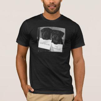 Camiseta Namorados-Homens de Rottweiler