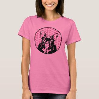 Camiseta Namorados - silhueta do buldogue francês