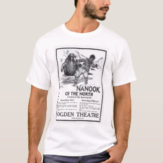 Camiseta Nanook do t-shirt 1922 norte do anúncio do filme