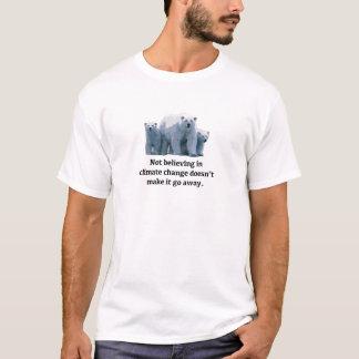 Camiseta Não acreditando nas alterações climáticas